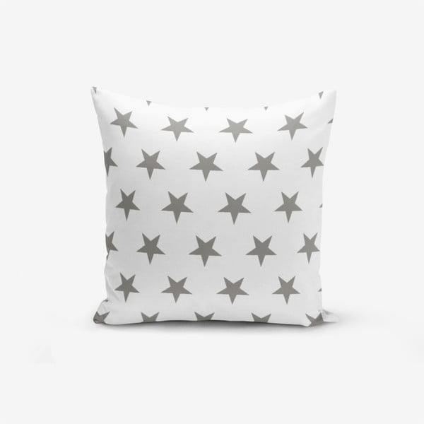 Grey Star pamutkeverék párnahuzat, 45 x 45 cm - Minimalist Cushion Covers