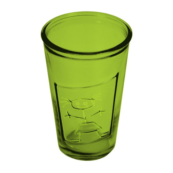 Zelená sklenice z recyklovaného skla Ego Dekor Afrodita, 300ml