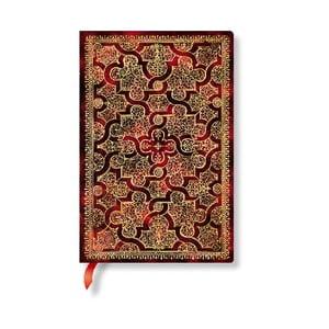 Linkovaný zápisník s měkkou vazbou Paperblanks Mystique, 9,5x14cm