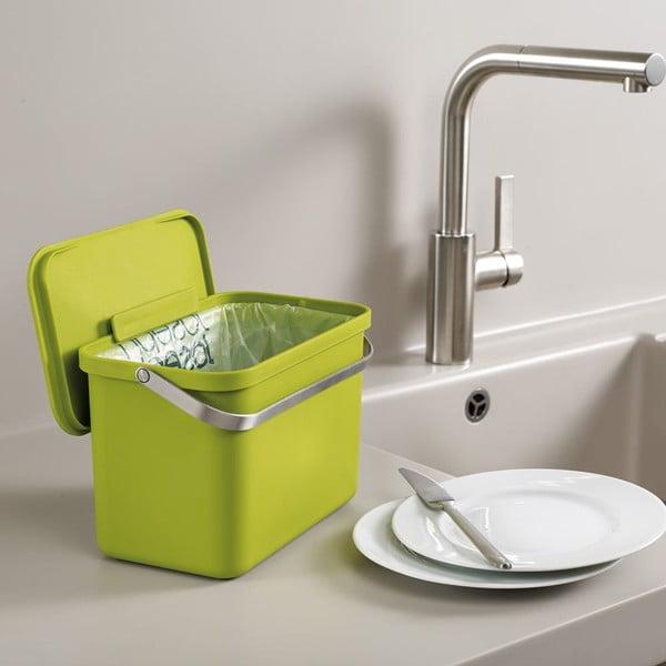 Nádobka na kompostovatelný odpad IntelligentWaste Totem, zelená