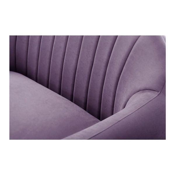 Pohovka Comete Grand Purple s lenoškou na levé straně