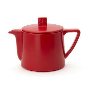 Červená keramická konvice se sítkem na sypaný čaj Bredemeijer Lund, 500 ml
