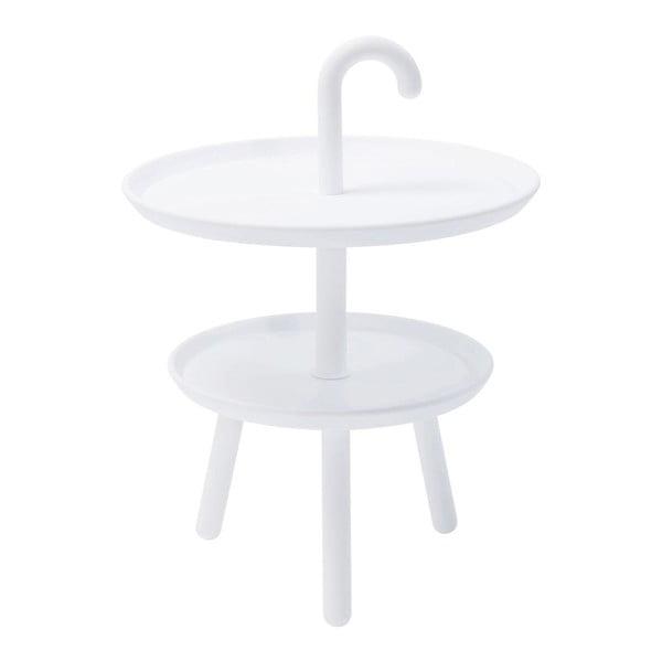 Bílý odkládací stolek Kare Design Jacky, ⌀42cm
