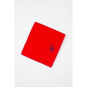 Červená koupelnová předložka U.S. Polo Assn., 60x90cm