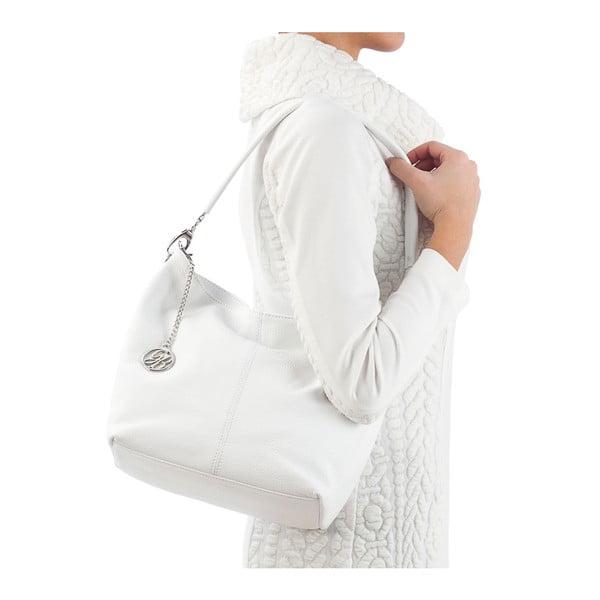 Kožená kabelka Marco, bílá