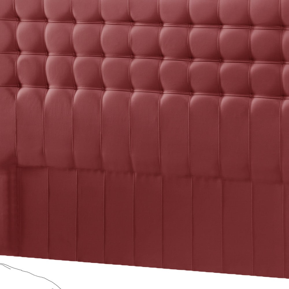 Červené čelo postele Novative Sylphyde, 140 x 118 cm