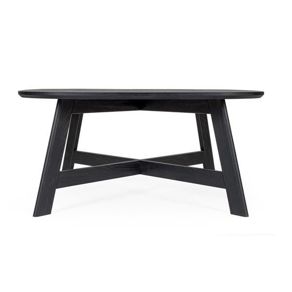 Černý konferenční stolek z jasanového dřeva Askala Keeni, délka80cm