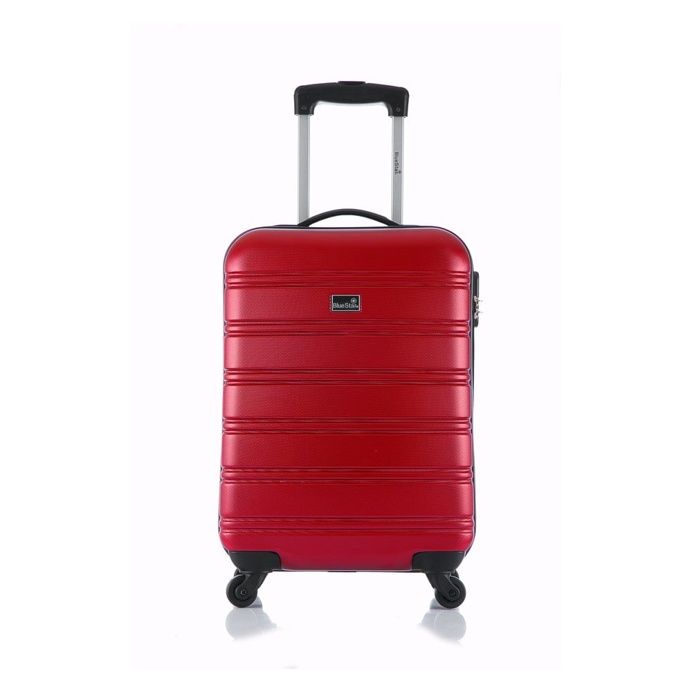 Červený příruční kufr na kolečkách Blue Star Bilbao