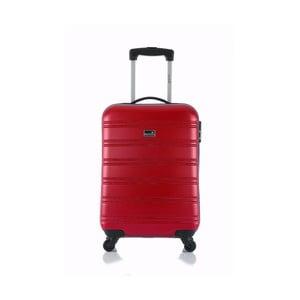 Červený příruční kufr na kolečkách BluestarBilbao, 35l