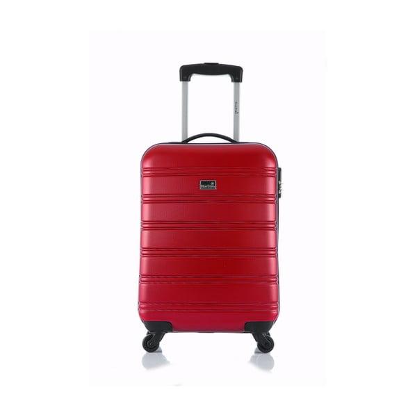 Červený příruční kufr na kolečkách BlueStarBilbao