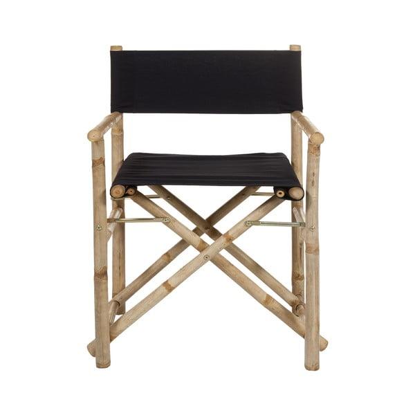 Scaun din bambus cu șezut negru Santiago Pons