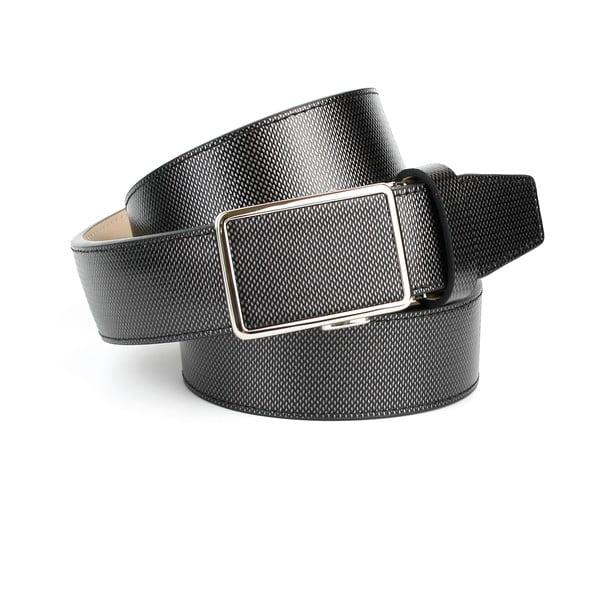 Pánský kožený pásek 17M70S Grey, 110 cm