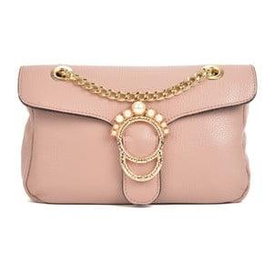 Růžová kožená kabelka Sofia Cardoni Princesa