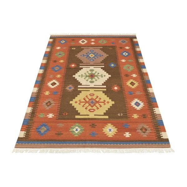 Vlněný koberec Kilim Classic K08 Mix, 155x215 cm