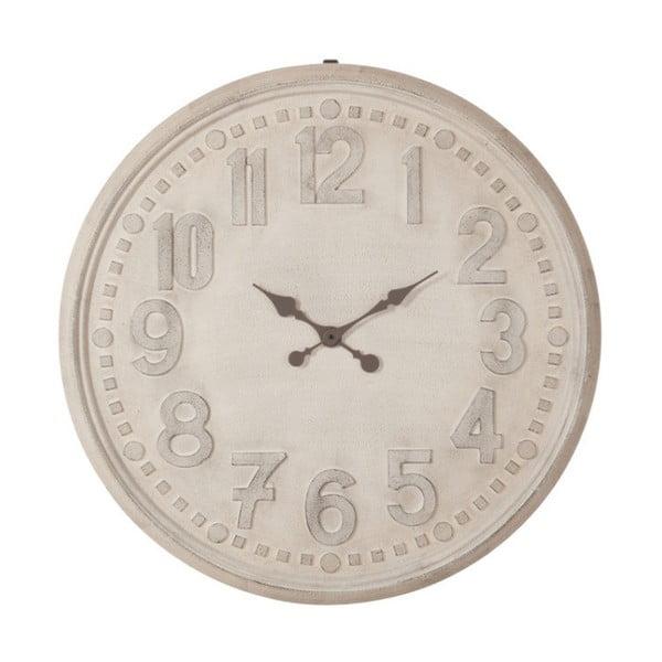 Bílé nástěnné vintage hodiny J-Line, 90 cm