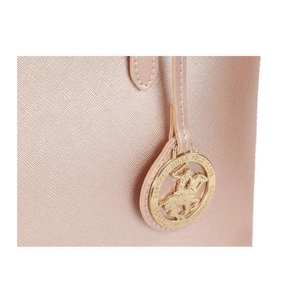 Světle růžová kabelka Beverly Hills Polo Club Dina