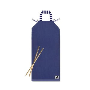 Modré plážové lehátko Origama Blue Stripes