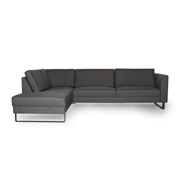 Geneve antraciszürke kanapé, bal oldali kivitel - Softnord