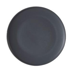 Šedý talíř z kameniny Premier Housewares Malmo, Ø 18 cm