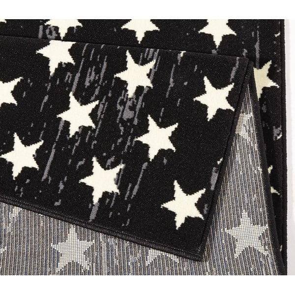 Dětský černý koberec Hanse Home Stars, 140x200 cm
