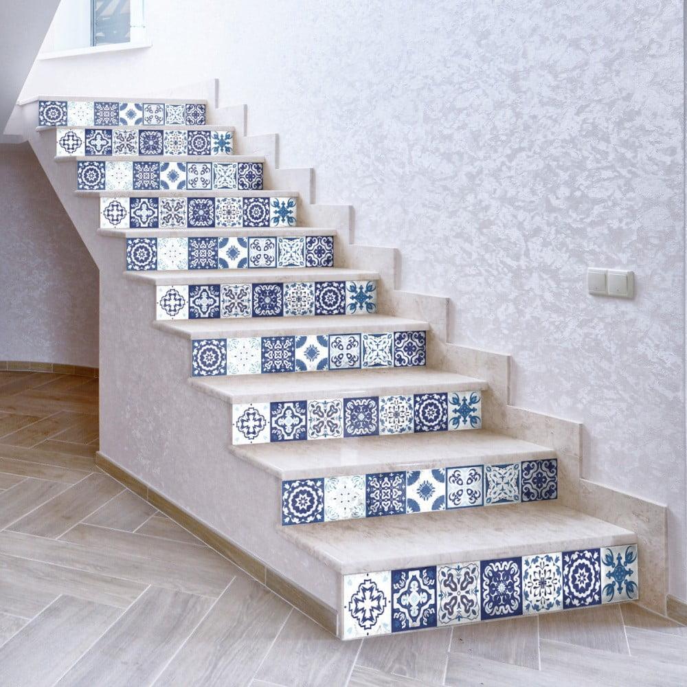 Sada 2 samolepek na schody Ambiance Fedora, 15 x 105 cm