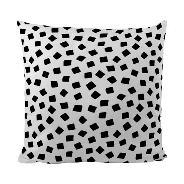 Polštářek Black Shake Little Squares, 50x50 cm