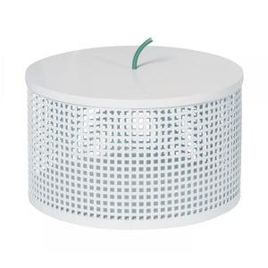 Bílý úložný box OK Design Boite, Ø25,5cm