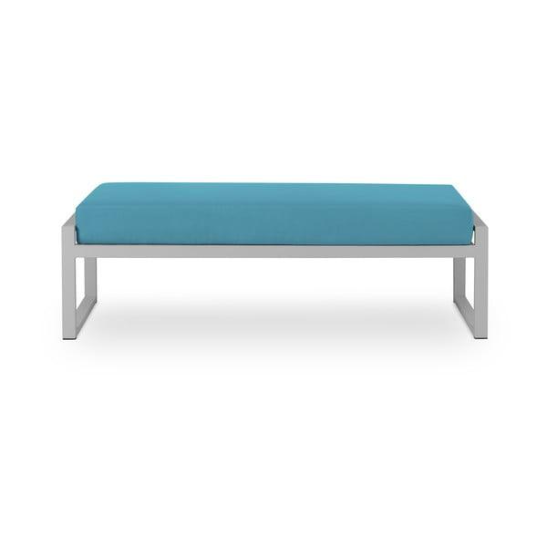 Nicea kék kétszemélyes kültéri pad szürke kerettel - Calme Jardin