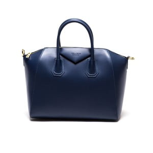 Kožená kabelka Anna Luchini 385 Blu