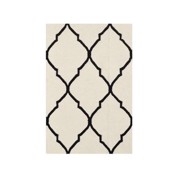 Vlněný koberec Bakero Caroline Ivory/Black, 60x90cm