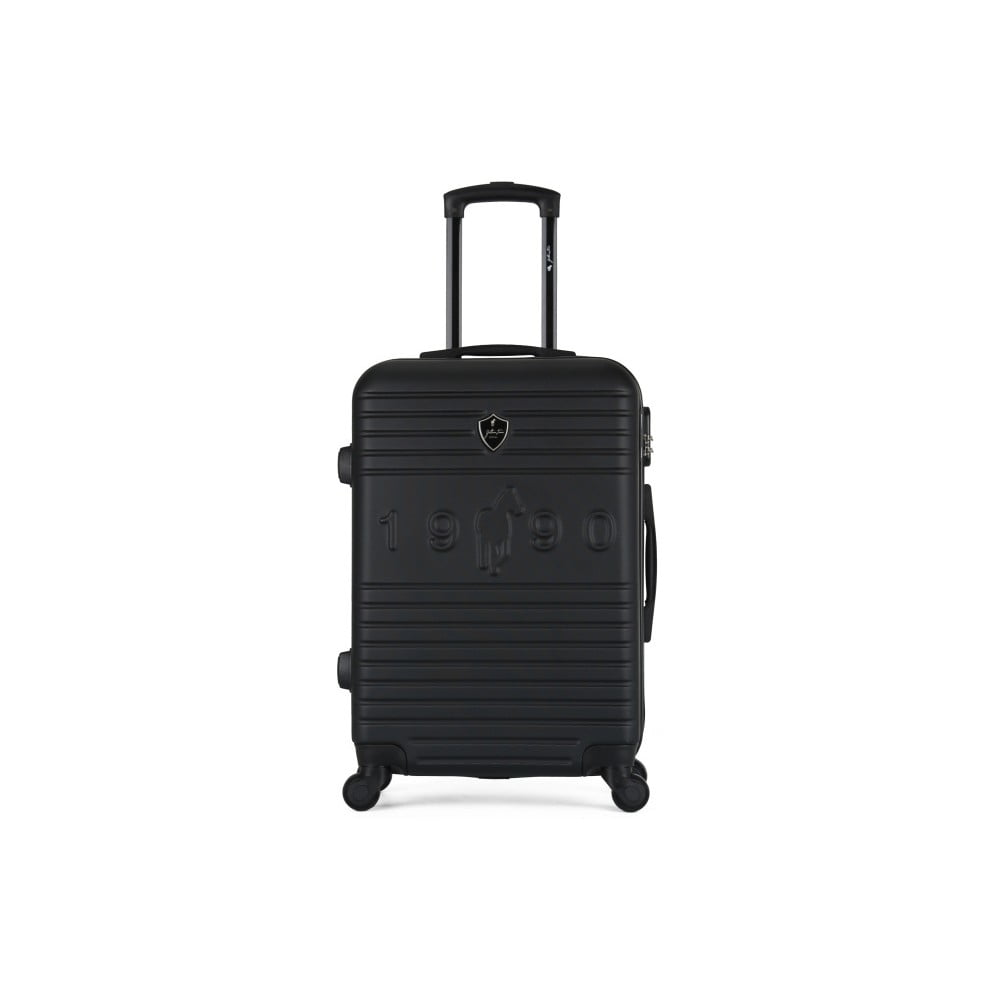 Černý cestovní kufr na kolečkách GENTLEMAN FARMER Valise Grand Cadenas Integre, 35 x 55 cm