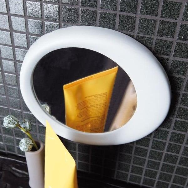 Samodržící přibližovací kosmetické zrcadlo Eclisse, bílé
