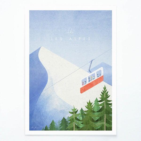 Plakát Travelposter Les Alpes, A2