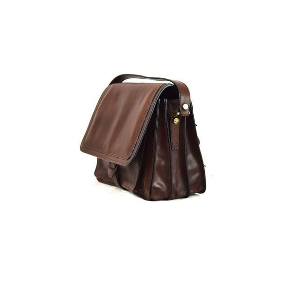 Kožená taška Santo Croce 132089 Dark Brown
