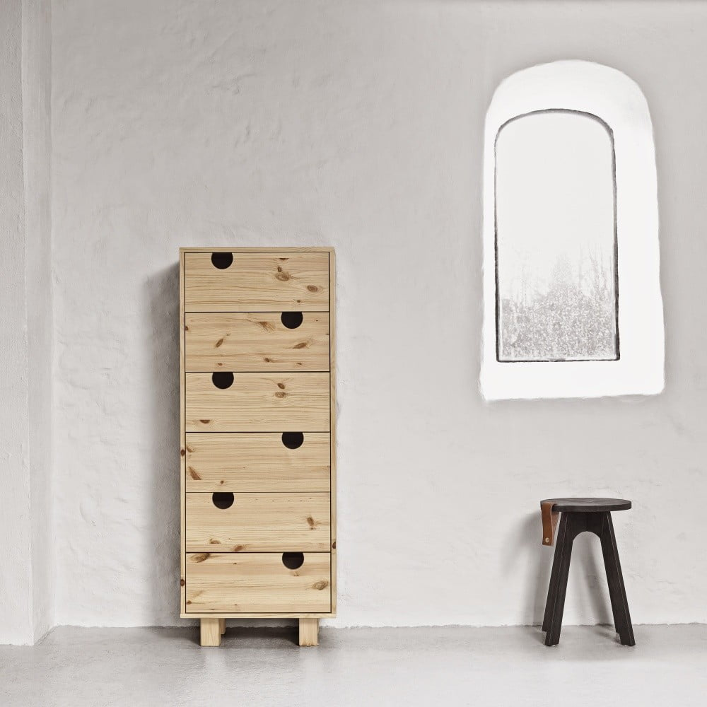 Fotografie Komoda se šesti zásuvkami Karup House Natural