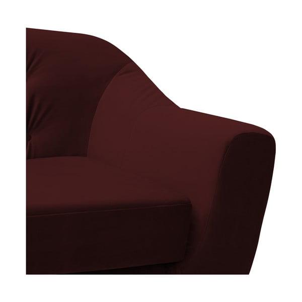 Canapea 2 locuri Vivonita Laurel, roșu închis