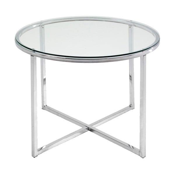 Bílý odkládací stolek Actona Cross, ⌀ 55 cm