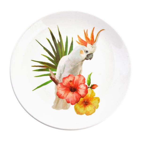 Dekorativní keramický talíř Clayre&Eef Tropico, ⌀20cm
