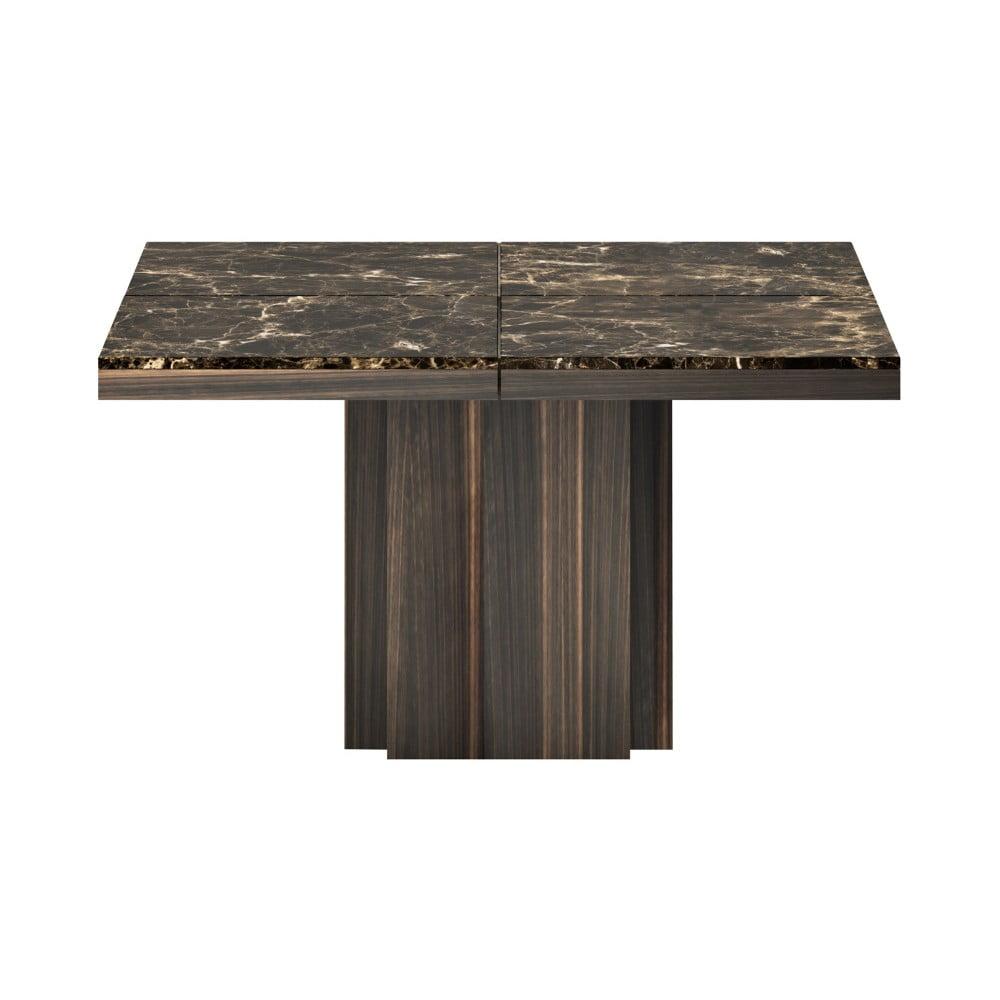 Hnědý jídelní stůl s deskou z mramoru TemaHome Dusk