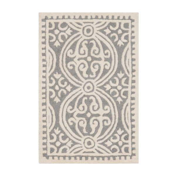 Sivý vlnený koberec Safavieh Marina, 91×152 cm