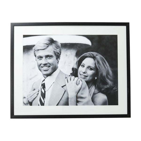 Zasklený černobílý obraz Kare Design Lovers, 100 x 80 cm