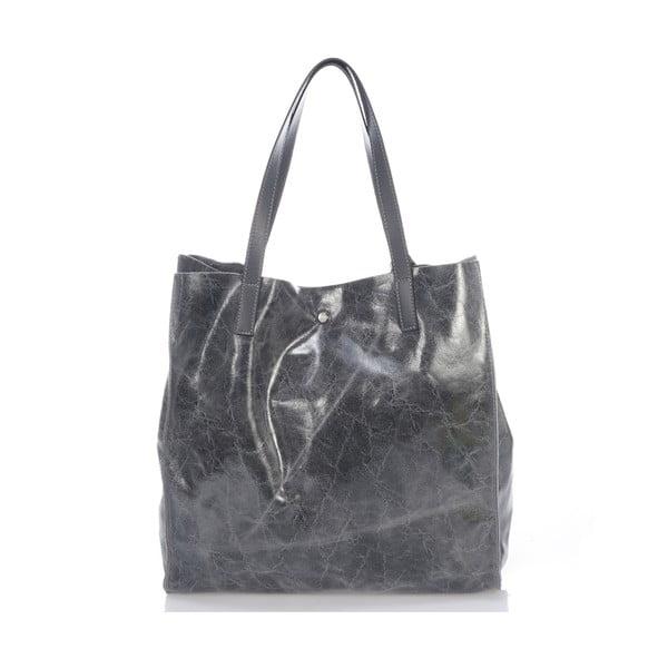 Kožená kabelka Italia 892, šedá