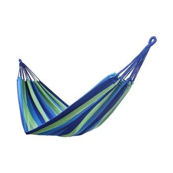 Hamac suspendat DecoKing Cotpoly verde - albastru