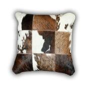 Polštář z pravé kůže Cow, 45x45 cm