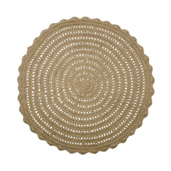 Covor rotund din iută BePureHome Corn, ⌀ 150 cm