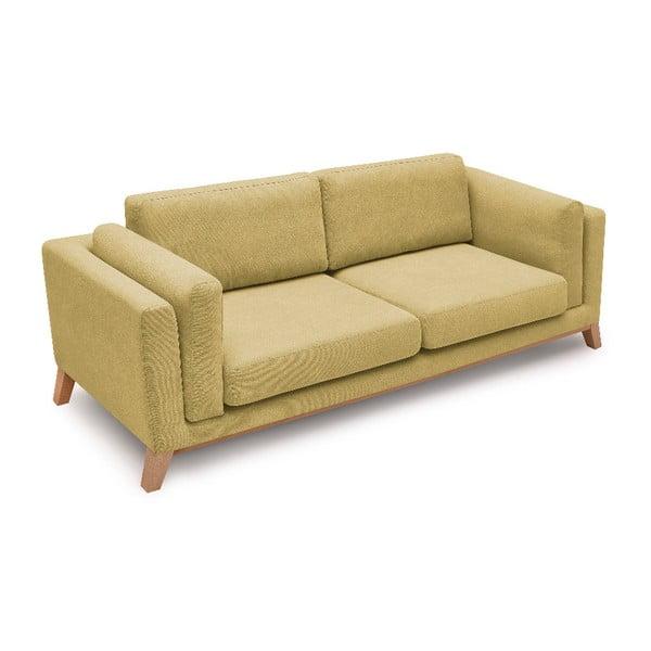 Canapea cu 3 locuri Bobochic Paris Enjoy, galben