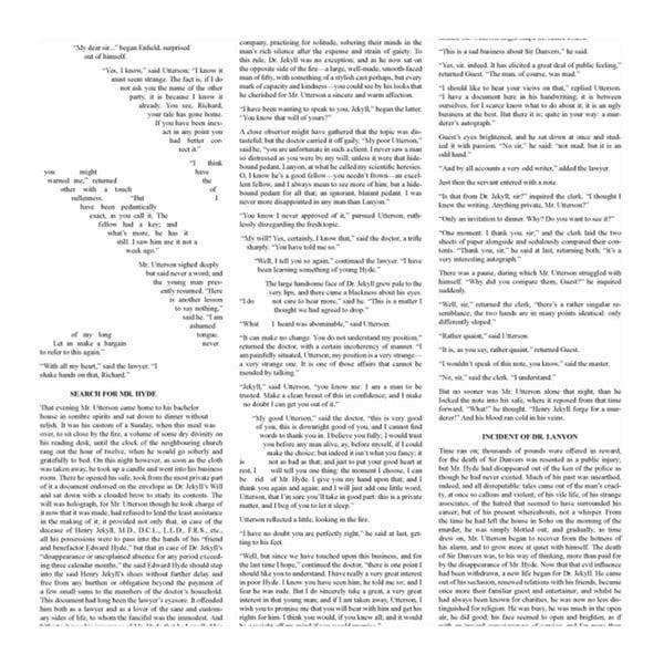 Knižní plakát Podivný případ Dr. Jekylla a pana Hyda, 50x70 cm