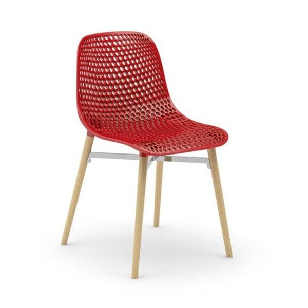 Set židlí Next 3+1 zdarma, červená