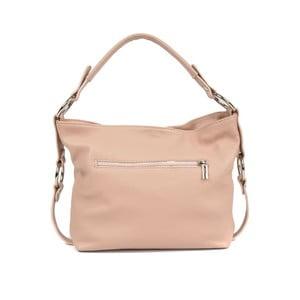 Pudrově růžová kožená kabelka Carla Ferreri Eloisa