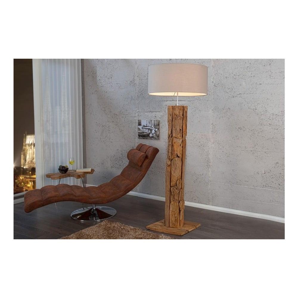 Krémová volně stojací lampa SOB Ellie